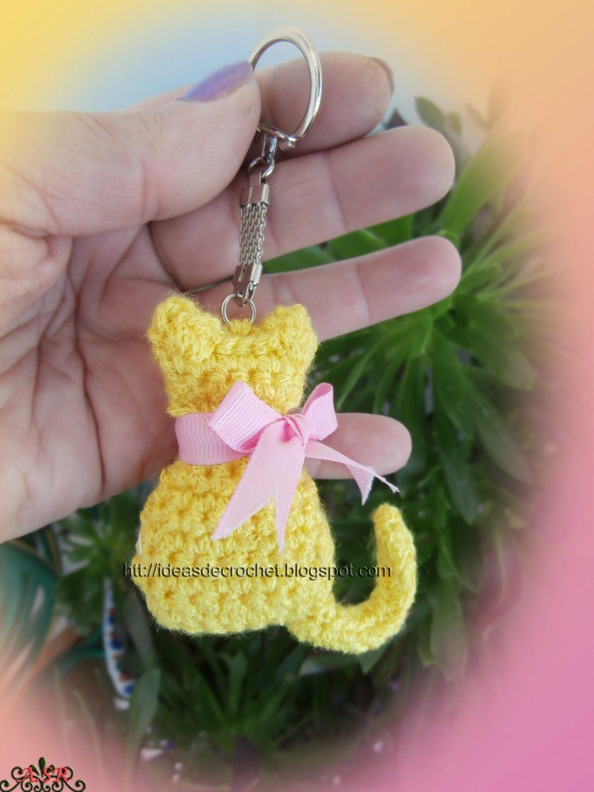 Ideas de Crochet: Gatito llavero | amigurrumis | Pinterest ...