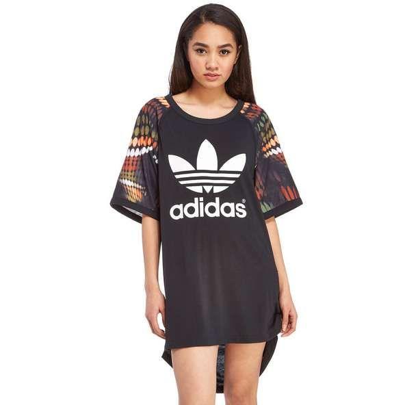 ef20b21a5c1 adidas Originals Rita Ora Trapeze Cut Out T-Shirt Dress | JD Sports ...