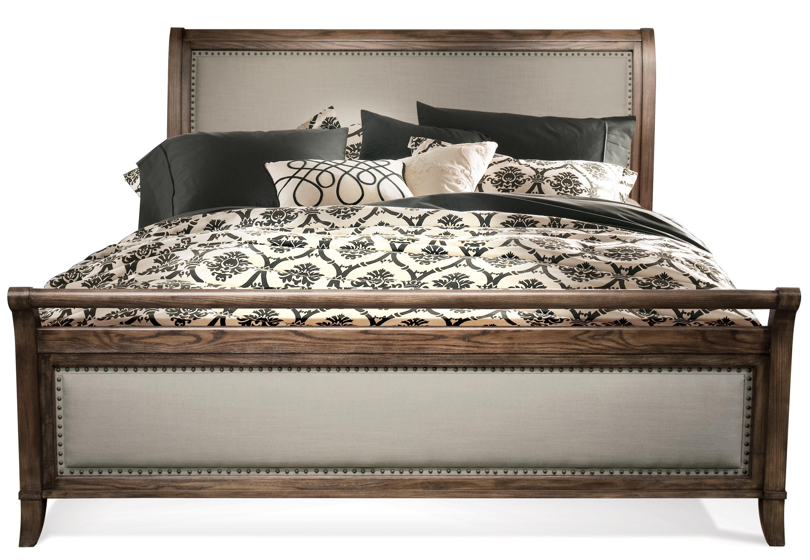 belmeade king sleigh upholstered bed by riverside furniture