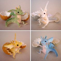 Soranokobako Tiny Felt Dragons #feltdragon Soranokobako Tiny Felt Dragons #feltdragon