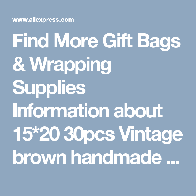 Find More Gift Bags & Wrapping Supplies Information about 15*20 30pcs Vintage brown handmade Jute Sacks Drawstring gift bags for jewelry/wedding/christmas Packaging Linen pouch Bags,High Quality gift bag with bow,China bag leopard Suppliers, Cheap gift bag plastic from Fashion MY life on Aliexpress.com