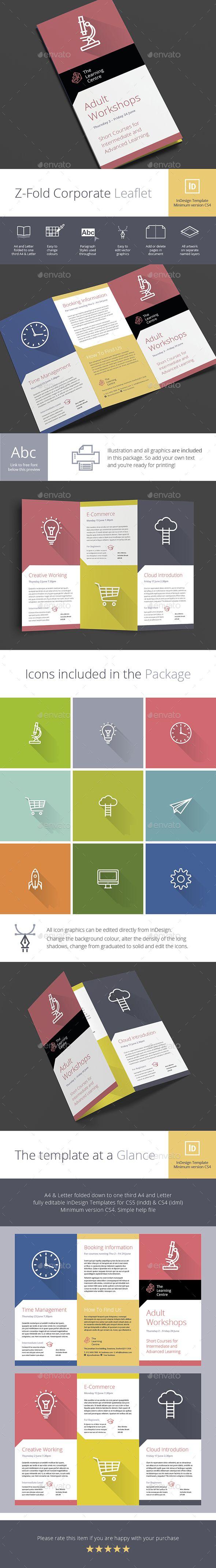 A Z-Fold / Concertina Brochure produced in InDesign (minimum