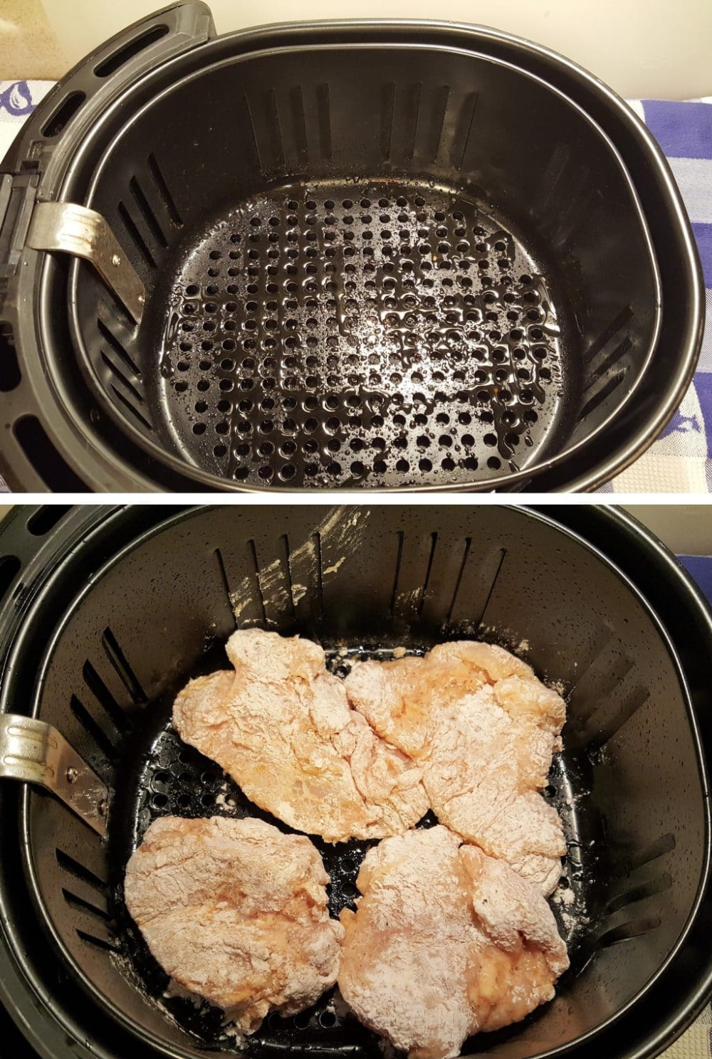 Prepare Air Fryer Basket for Chicken Image (With images