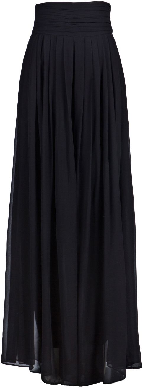 Full A-line Midi Skirt in Black - New Arrivals - Retro, Indie and ...
