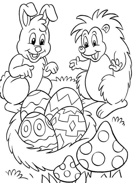 Velikonoční omalovánky Předškoláci - omalovánky, pracovní listy - new easter coloring pages to do online