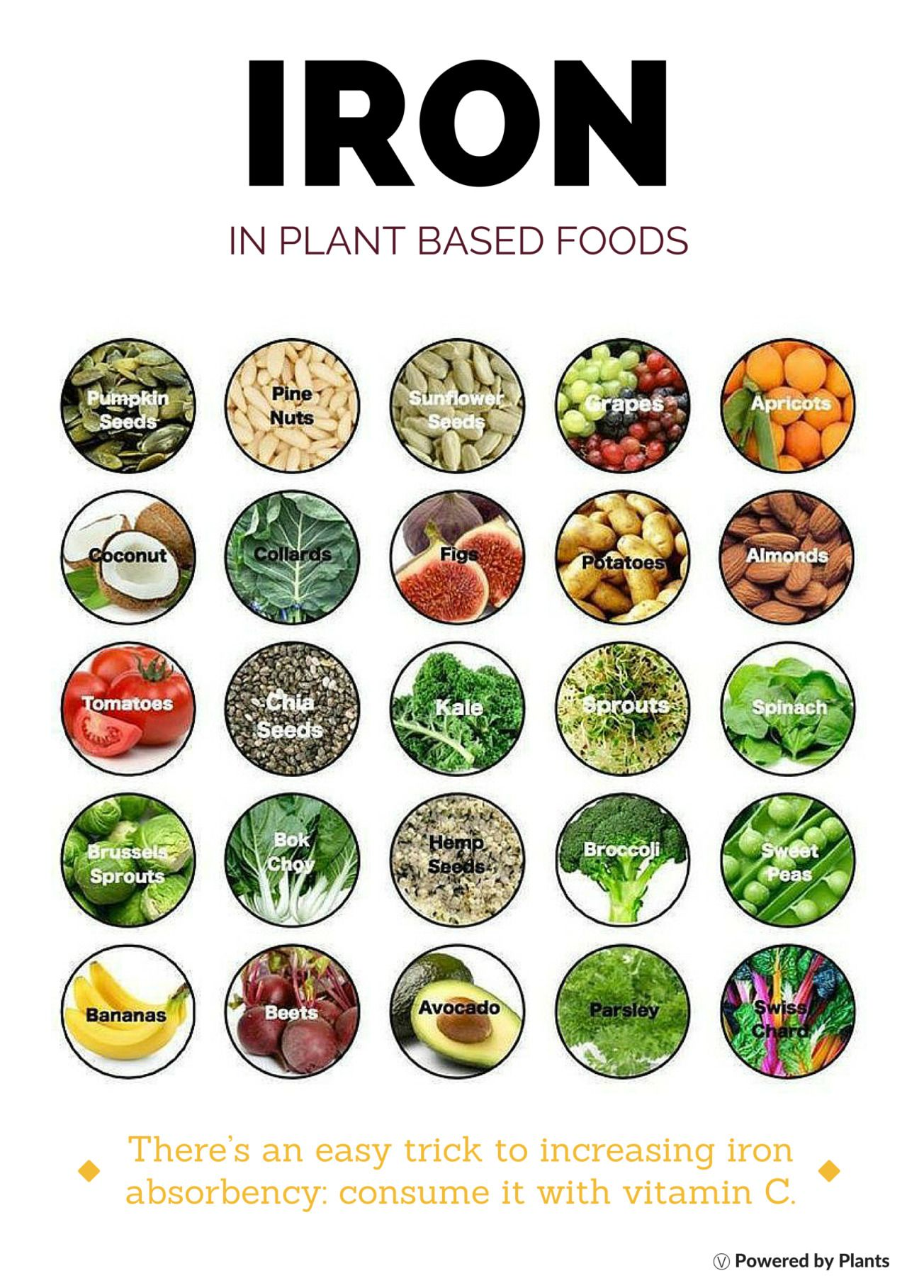 Plantbased iron Food, Vegan iron sources, Nutrition recipes