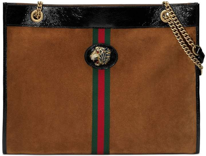 4e4a25802 Gucci Rajah Suede Tote   Products in 2019   Gucci tote bag, Suede ...