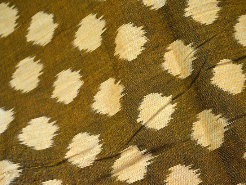 Brown Ikat Fabric Cotton Fabric By Yard Upholstery Fabric Ikat For
