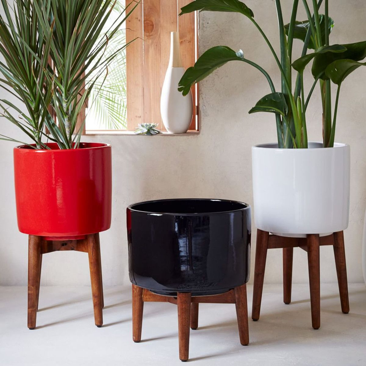 West Elm - Mid-Century Turned Leg Planter | Spaces: new house ...