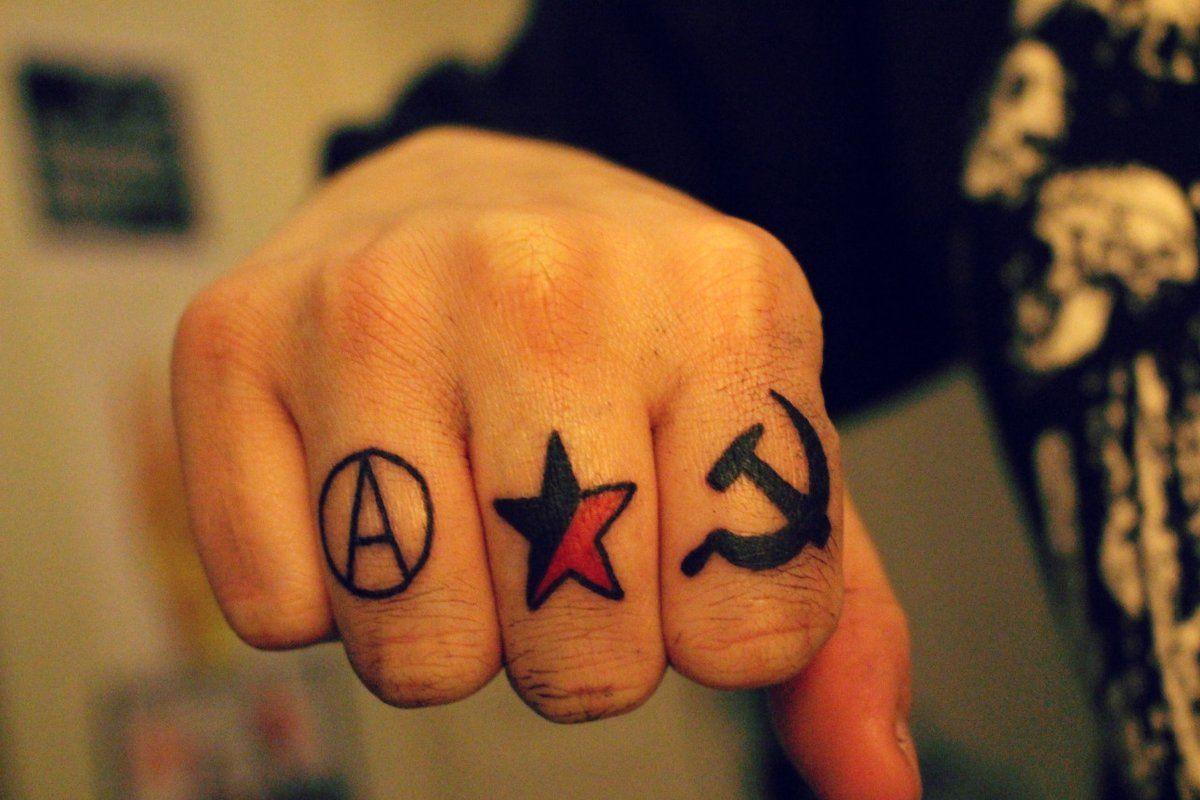 Twitter Tattoos Anarchist Tattoo Hand Tattoos
