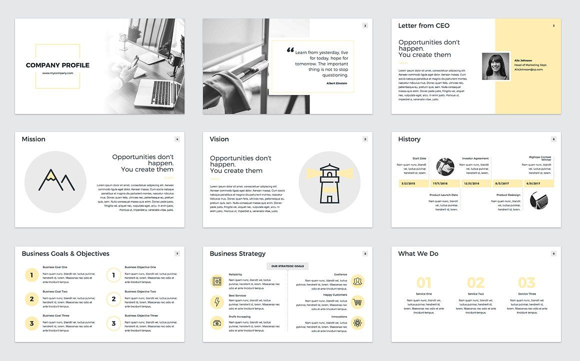 Company Profile PowerPoint FinancialOverviewExperience