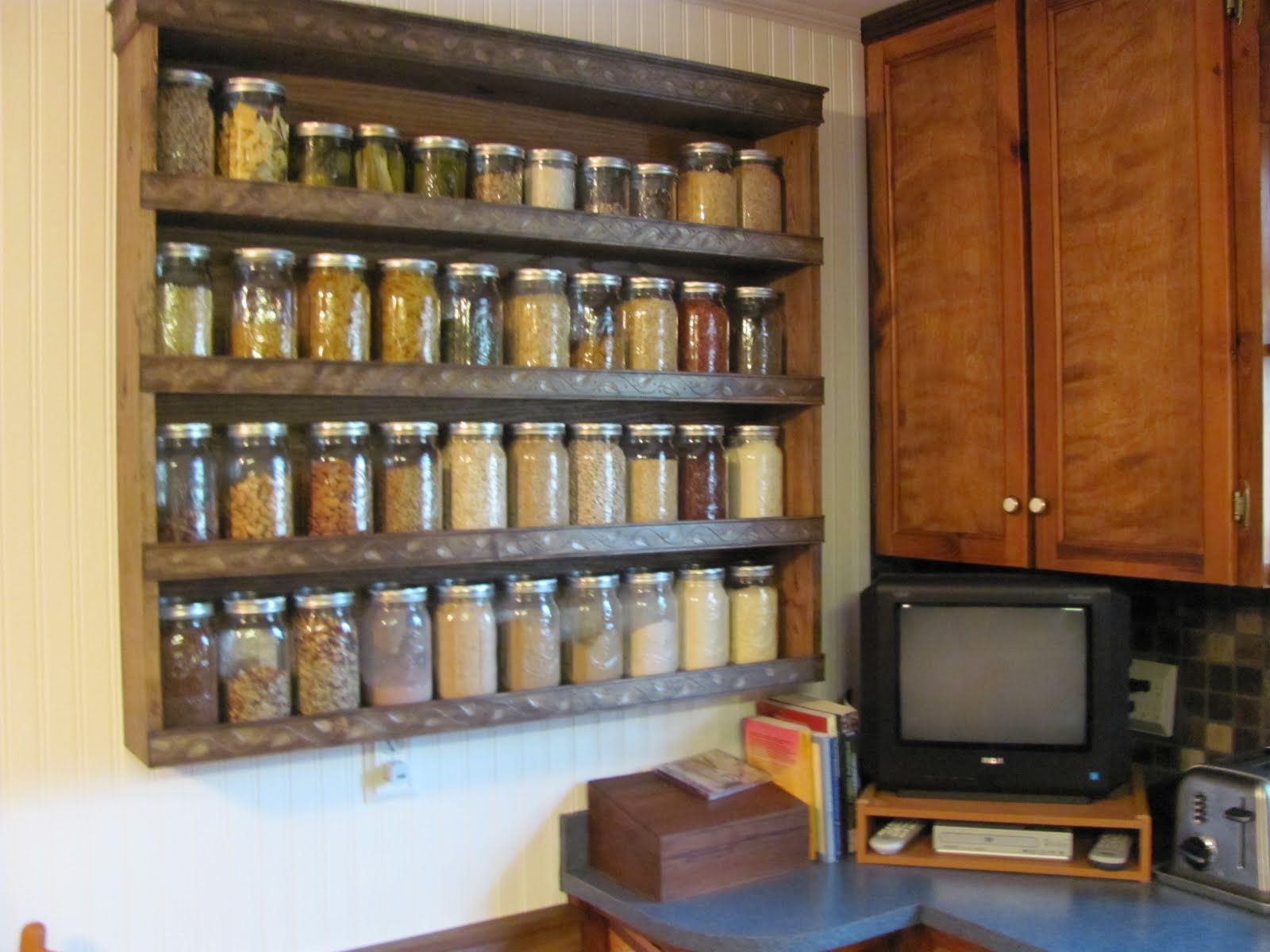 Kitchen Storage Shelves My Canning Jar Storage Shelf Food Storage Pinterest Shelves