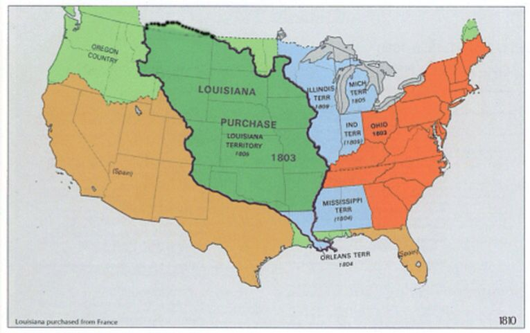 This is a picture of the U.S. And territorial acquisitions ...