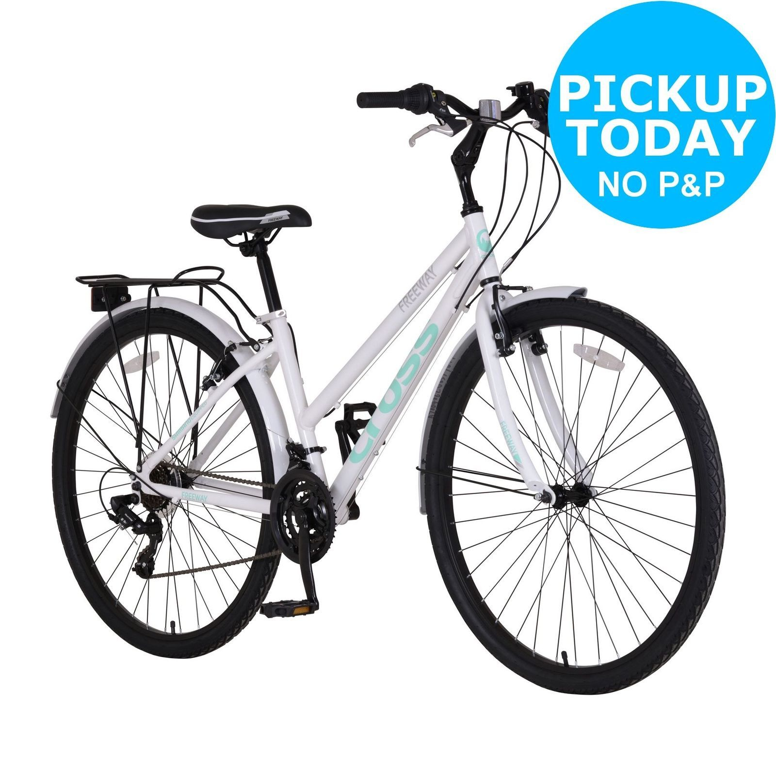 Cross Freeway 700c Hybrid Bike Ladies White. Hybrid bike