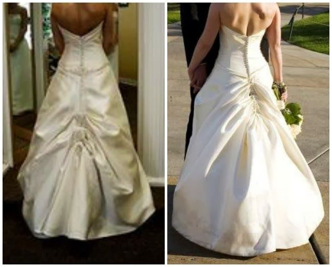 Austrian Bustle On A Wedding Gown Wedding In 2019 Wedding