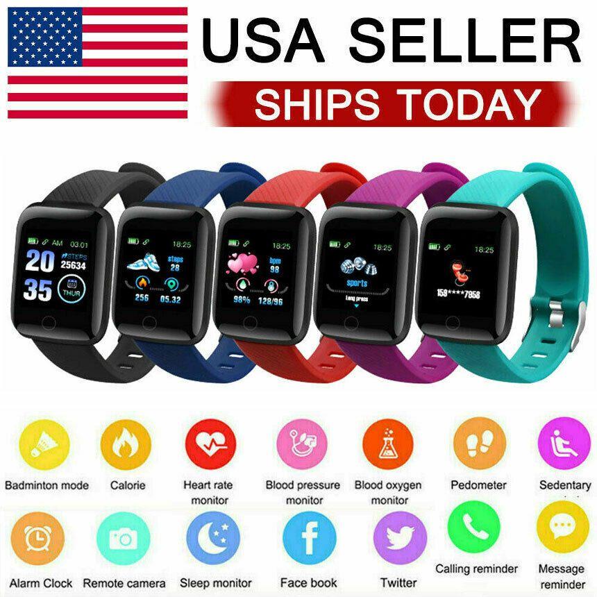 Smart Watch Heart Rate Blood Pressure Fitness Tracker Sport Band Bracelet - Fitness Watch - Ideas of...