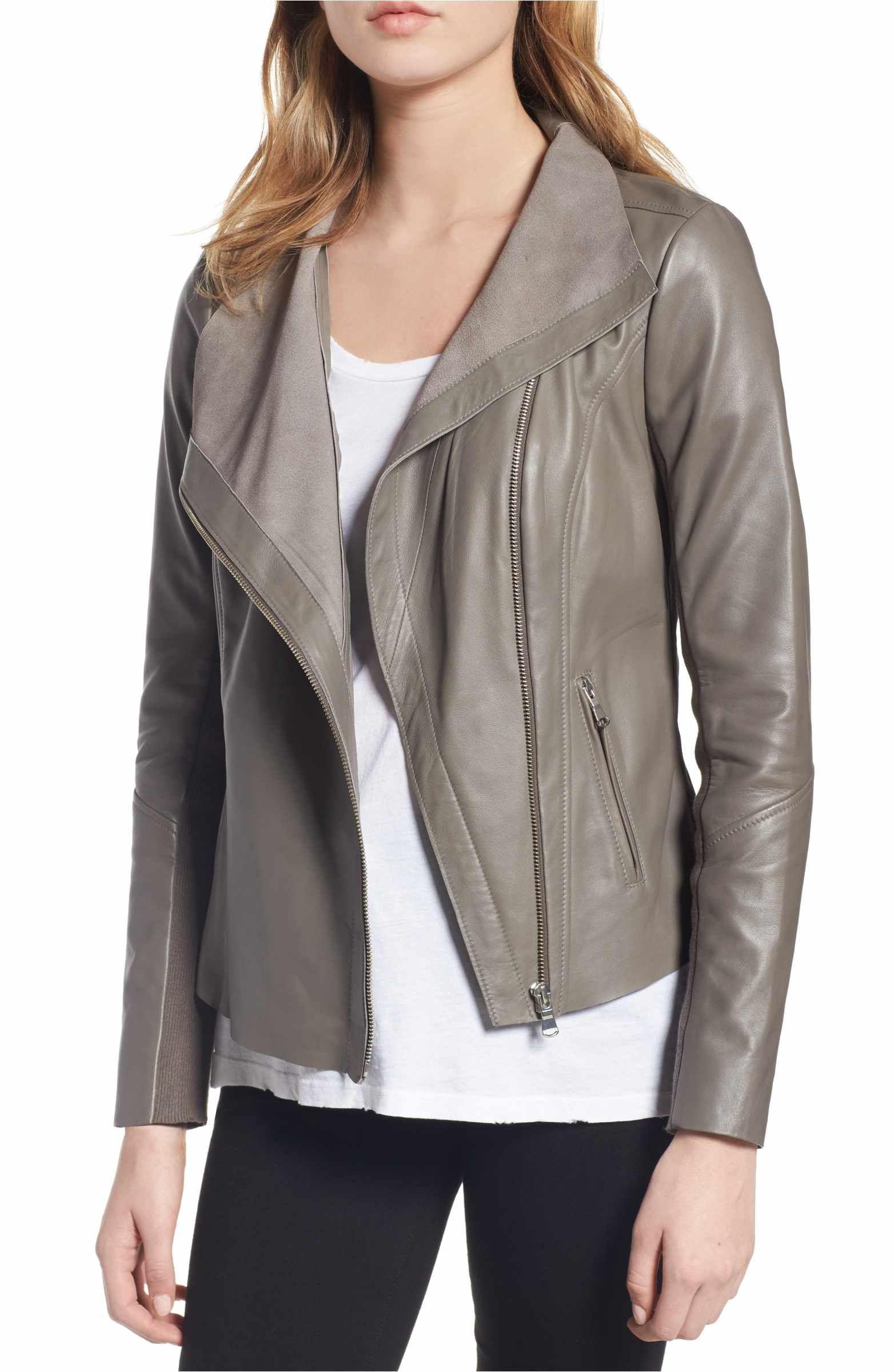 Trouvé Raw Edge Leather Jacket Leather jacket, Jackets