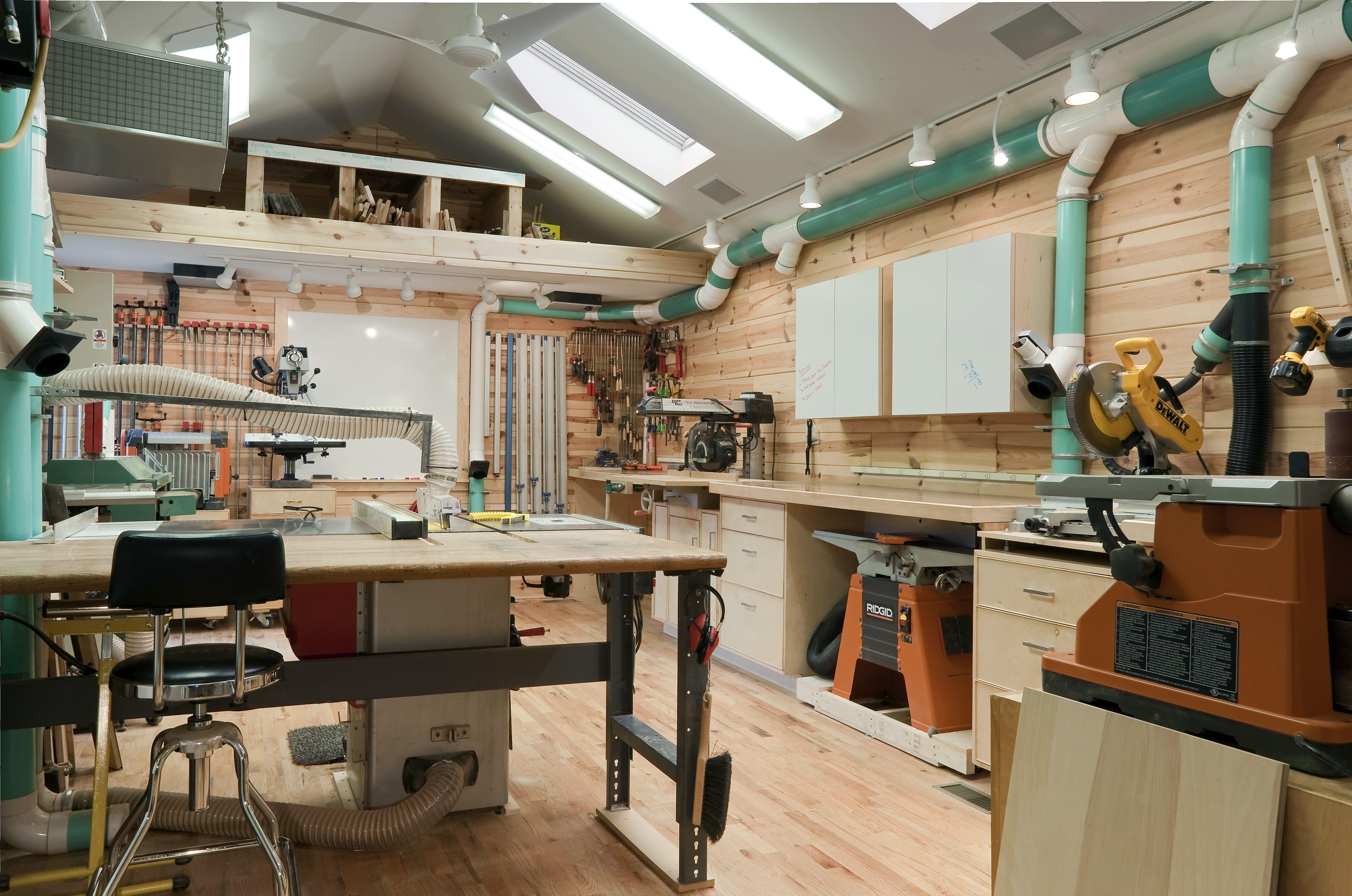 From Woodcraft Photo Shoot Shop Front View Workshop Layout Wood Shop Garage Workshop