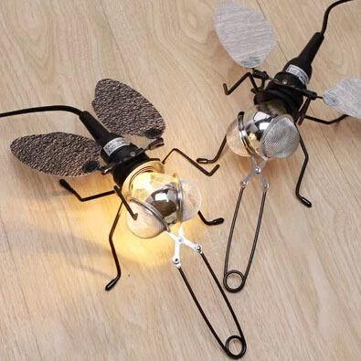 Lovely Mosquito Desk Lamps Art Deco Glass Animal Living Room Table