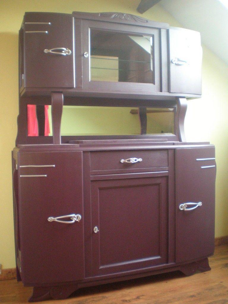 Buffet des ann es 1950 enti rement relook vieux meubles kitchen cabinets sideboard buffet - Relooking vieux meubles ...