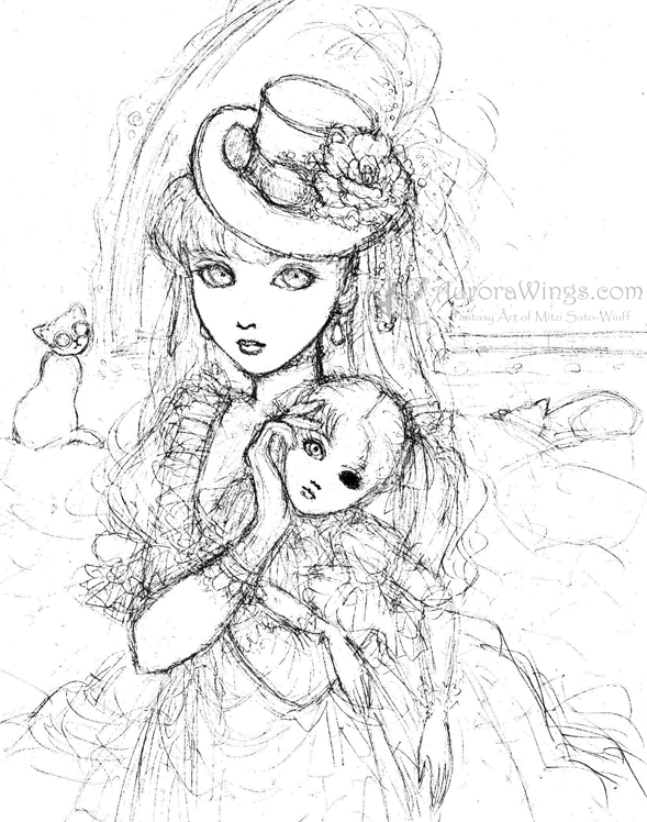 Steampunk Coloring Pages Anime Dark Angels