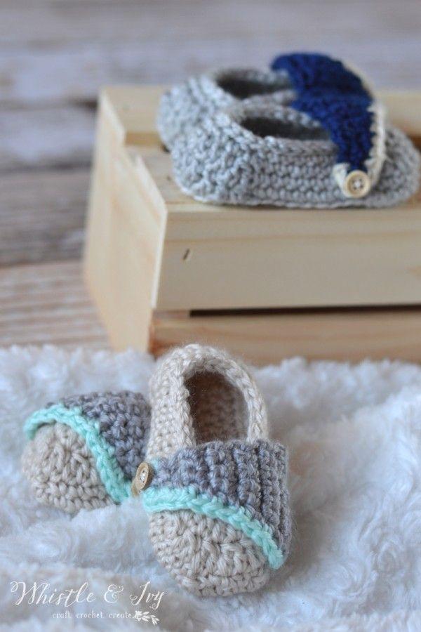 Baby Boardwalk Slip-Ons Crochet Pattern | Häkelschuhe, Häkeln baby ...