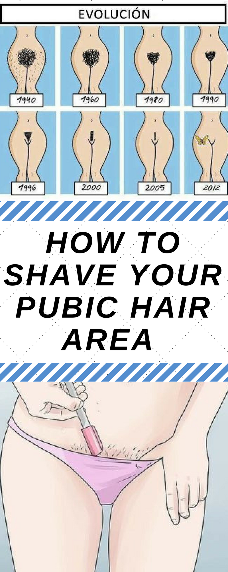How to shave your pubic hair for women