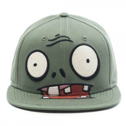 3b19d71a83e Amazon.com  Plants Vs. Zombies Big Face Zombie Snapback Cap  Clothing