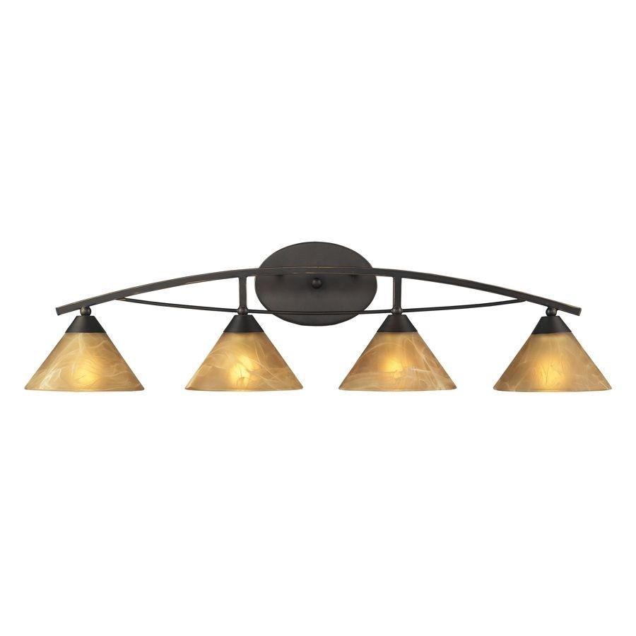 Elk light bathroom vanity lighting fixture aged bronze tea stained