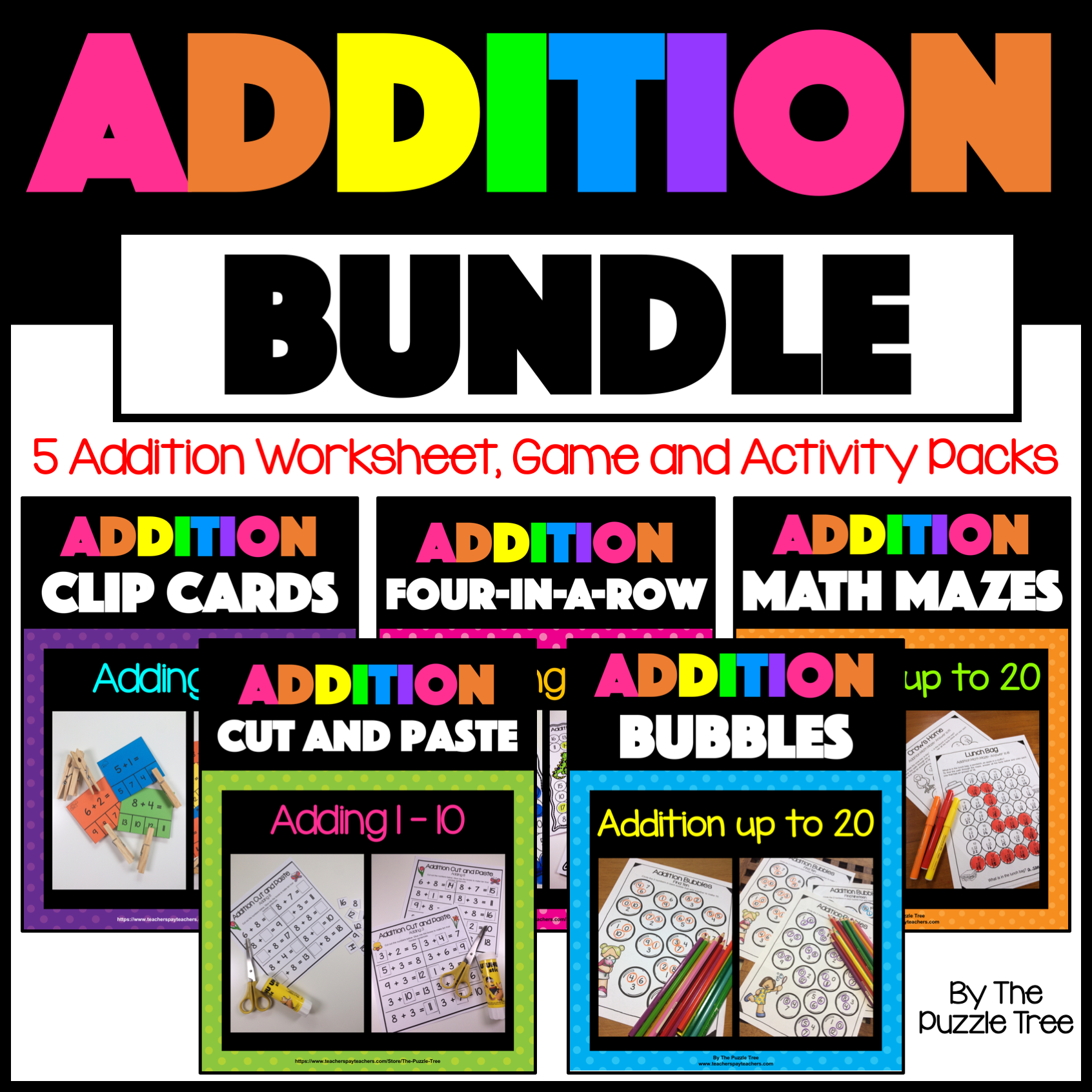 Addition To 20 Worksheets Activities And Games Bundle For