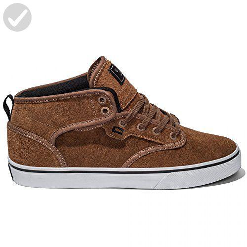 Motley Mid Skate Shoe, Toffee/White