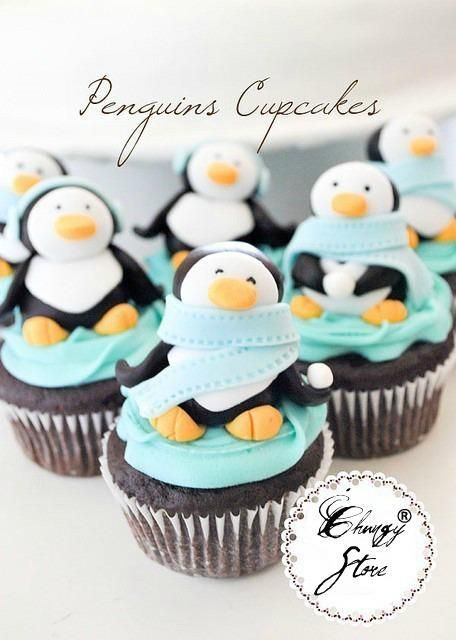 awww penguin cupcakes. I'm going to make these