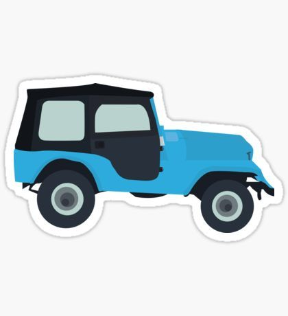 Stiles stilinski jeep cj5 1976 roscoe teen wolf sticker