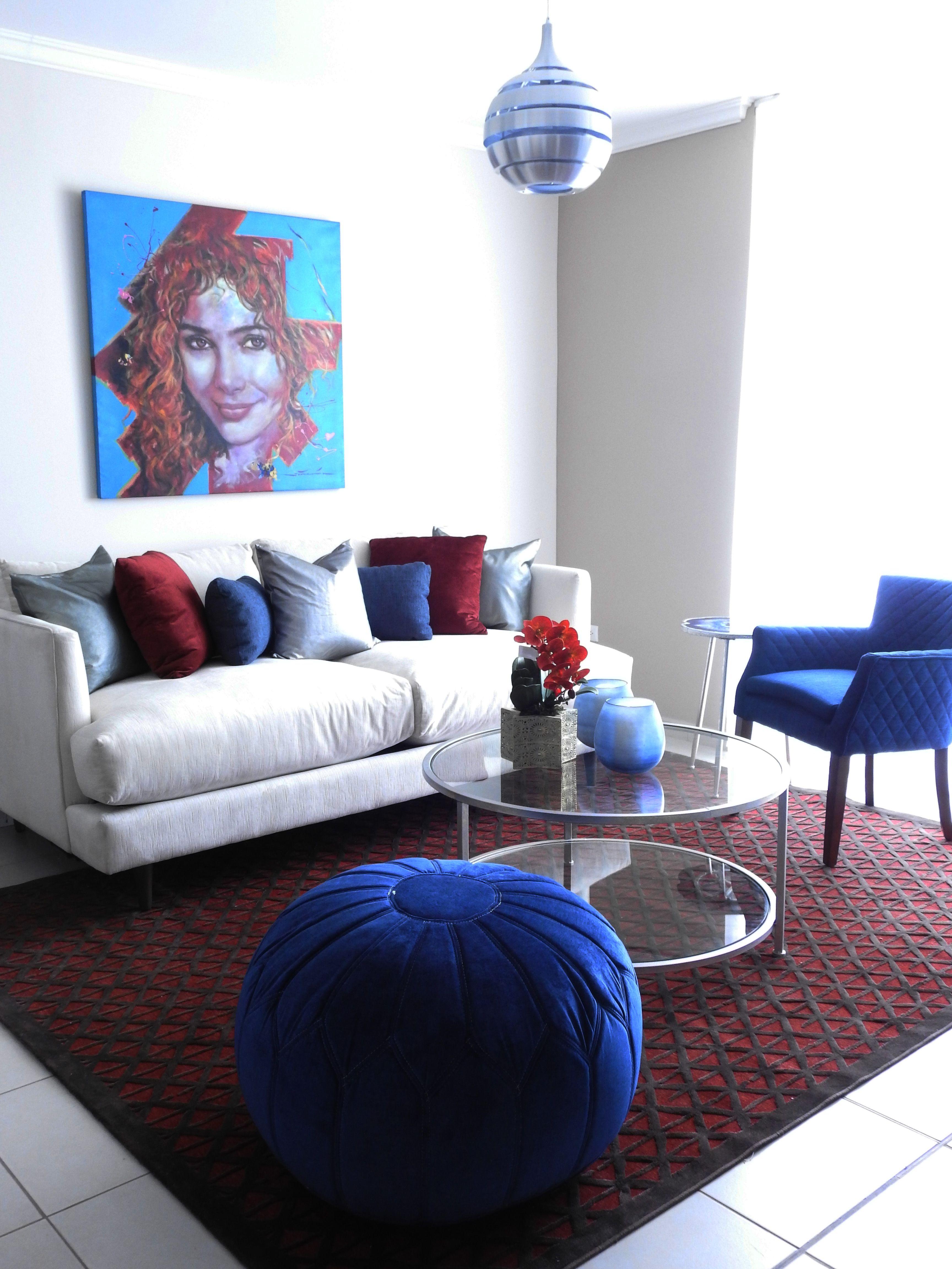Decoracion De Hogar Con Color Rojo Y Azul Home Decor With Red And