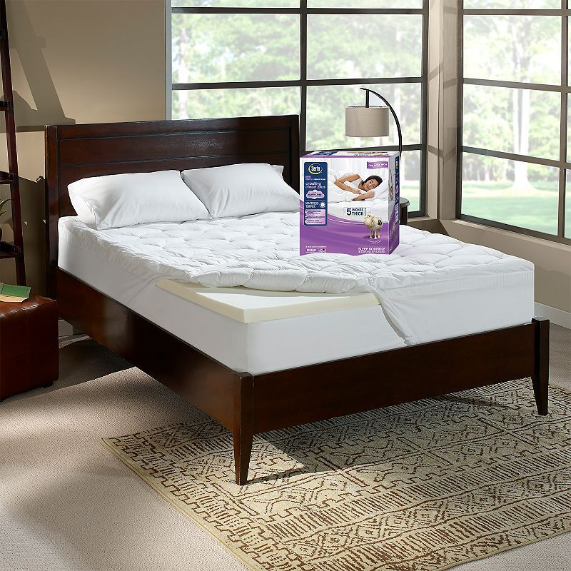 Serta Cradling Cloud Plus 5 Inch Memory Foam Mattress Topper