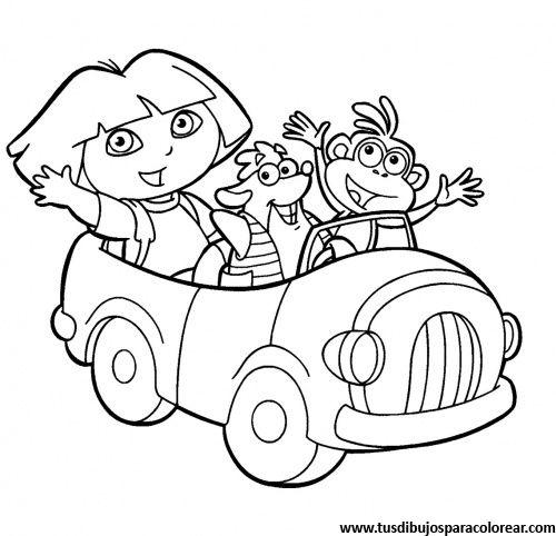 Dora exploradora para colorear | colorear | Coloring pages, Coloring ...