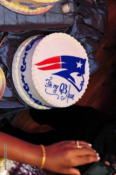 Patriots Wedding Cake! #PatriotsWedding #PatsWedding #PatriotsWeddingCake #WeddingInspiration #WeddingCake