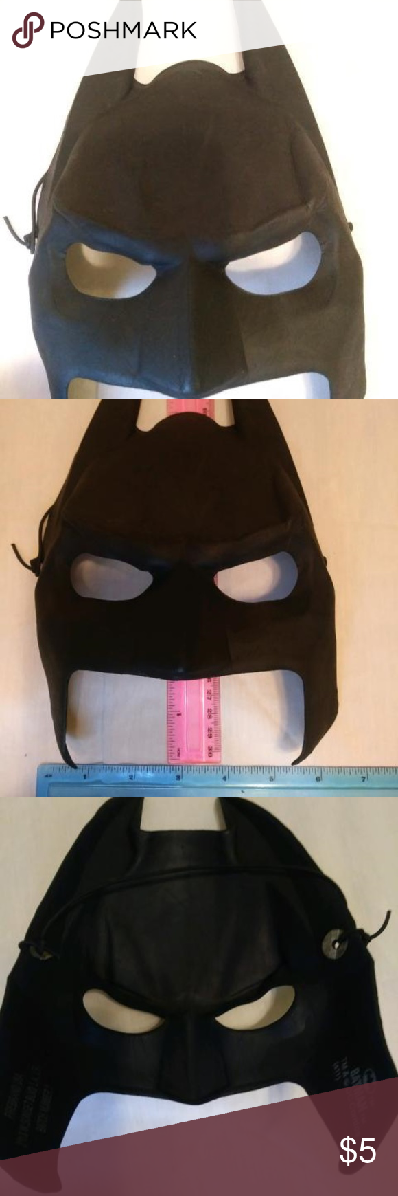 Batman Face Mask Costume Black Clothes Design Black Batman Black