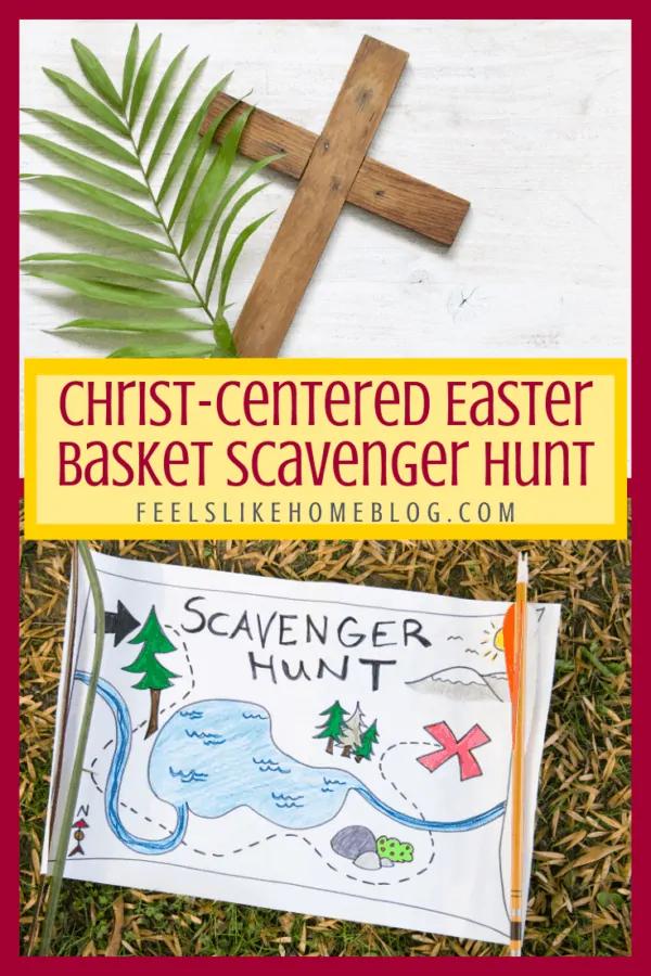 Free printable ChristCentered Easter basket scavenger