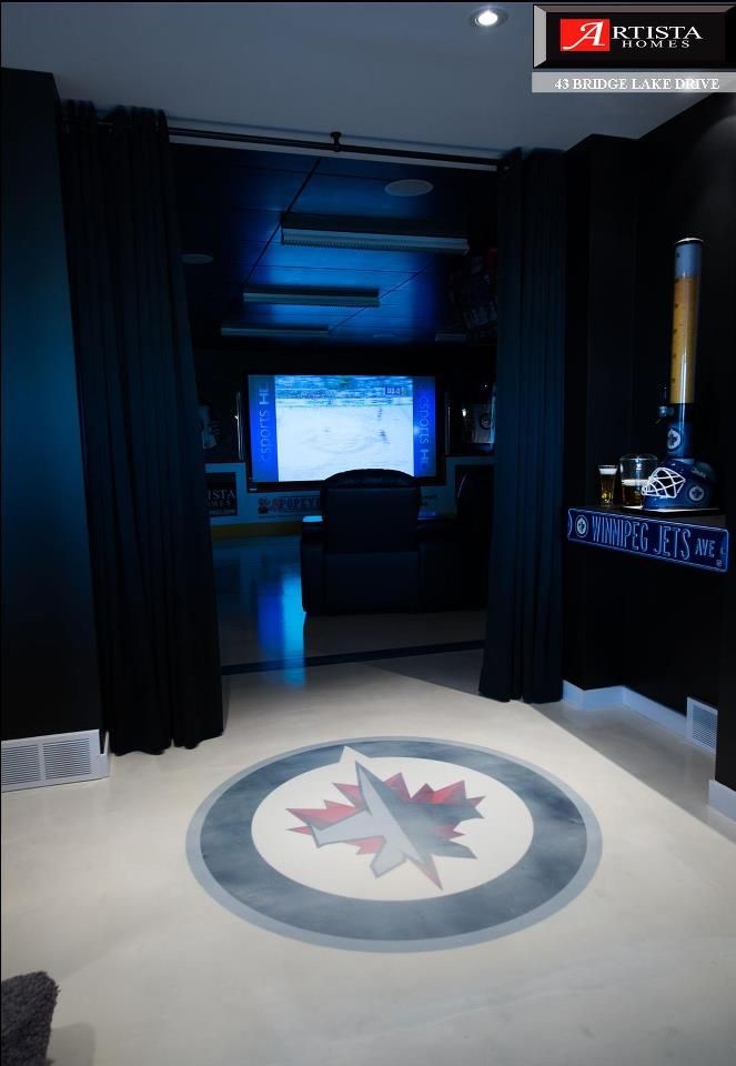 Ultimate Hockey Man Cave Who S Excited About Hockey Again Hockey Man Cave Man Cave Room Man Cave Layout