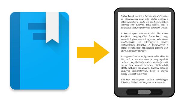 Könyvek a Google Playből e-könyv-olvasóra