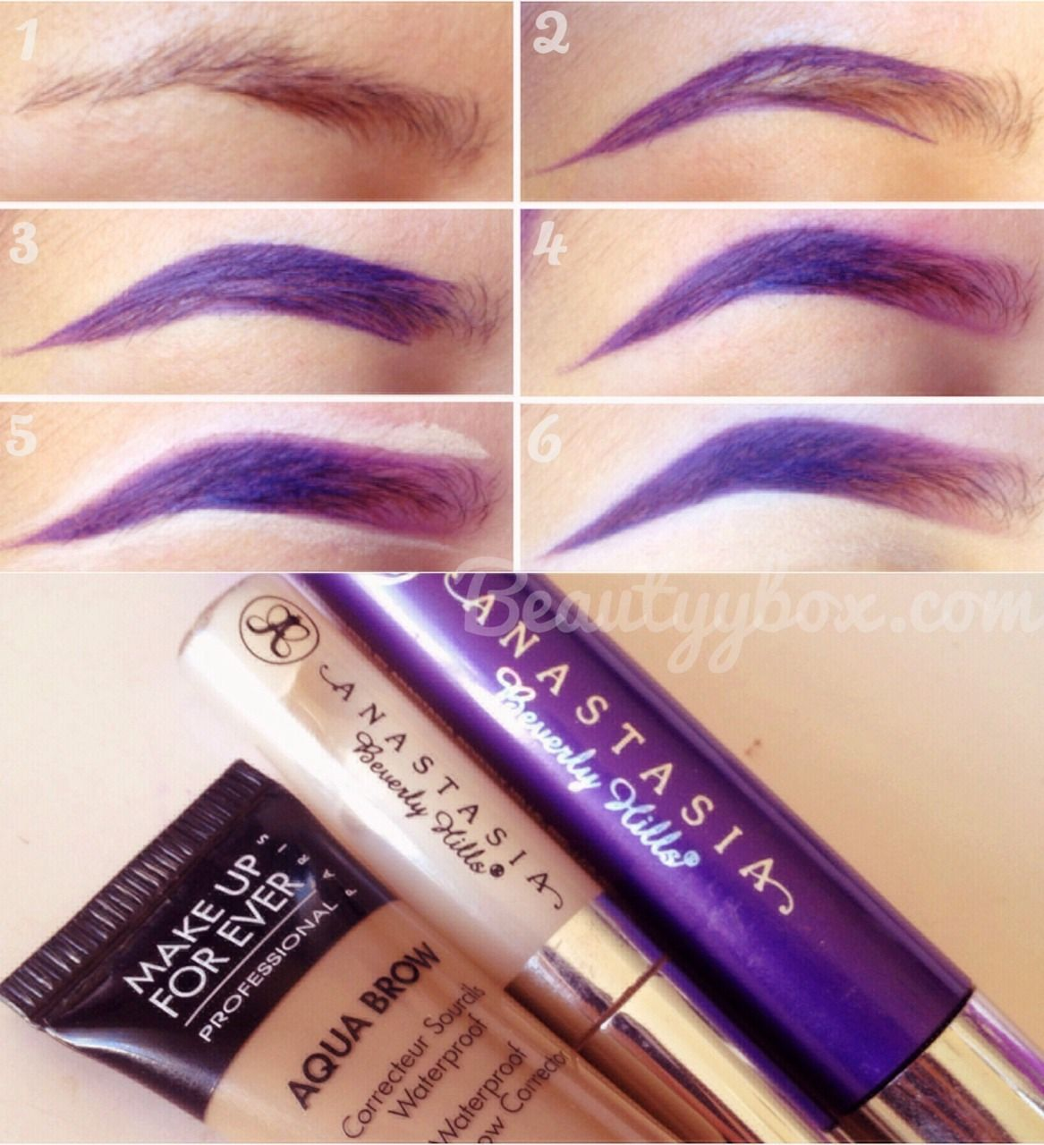 beautyybox 1. Start off with clean brow2. I line the