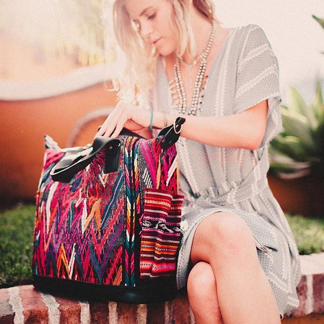 Nena & Co Black Vintage Day Bag