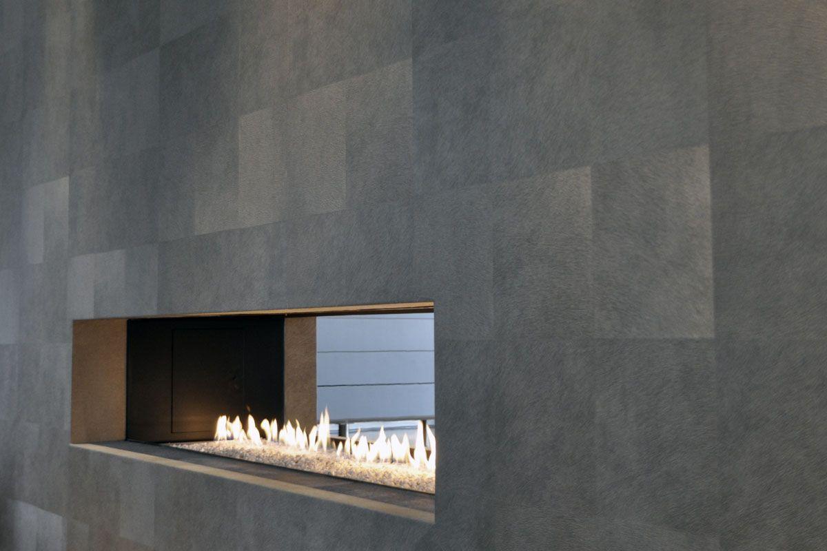 Openhaard met behang aaibaar home decor pinterest openhaard haard en met - Deco moderne open haard ...