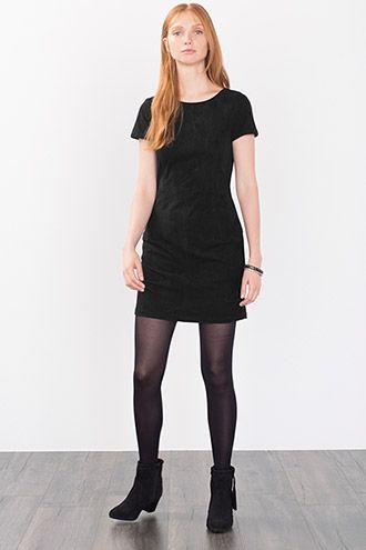 Esprit - Stretch-kjole i ruskinds-look i Esprits Online-Shop