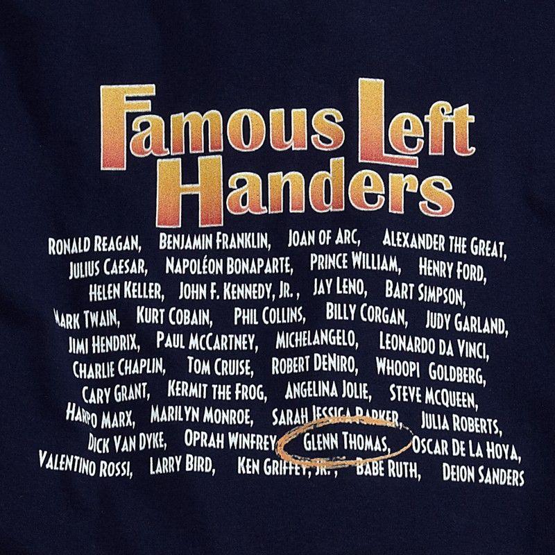 famous left handers t shirt and sweatshirt left handedness
