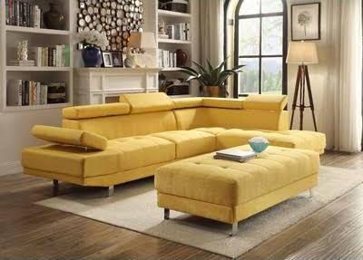 Mustard Sectional Sofa Living Room Sets Modern Furniture Living Room