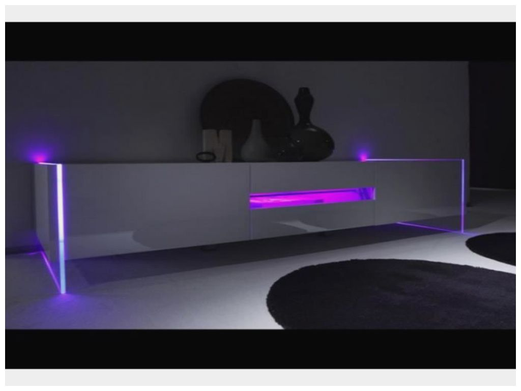 Inspirant Meuble Tv Laque A Led With Images Living Room Tv