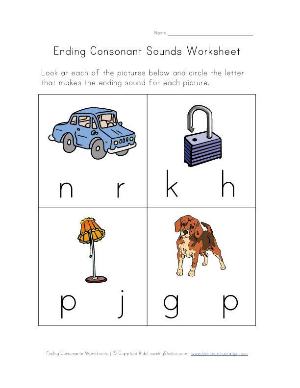 math worksheet : 1000 images about ending consonsants on pinterest  phonics  : Ending Sounds Worksheets Kindergarten