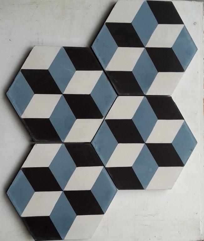 carreaux de ciment modele hch 30 1 hexagonal en 15x15 charme parquet house tip 39 pinterest. Black Bedroom Furniture Sets. Home Design Ideas